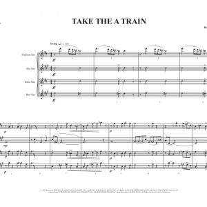 Take The A Train- Sax Quartet